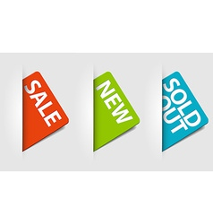 cards for new sale and sold out items vector image