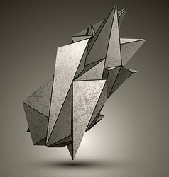 Asymmetric peak technology metallic object vector