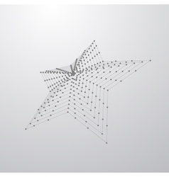 3D star shape of particles vector image vector image