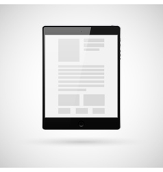 Black tablet computer for template vector