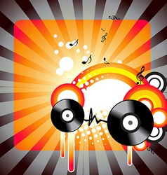 Stylish music artwork vector