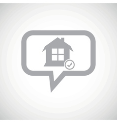 Select house grey message icon vector