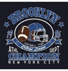 Sport typography brooklyn football vector