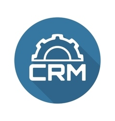 Crm platform icon flat design vector