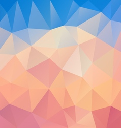 Pastel pink blue polygon triangular pattern vector