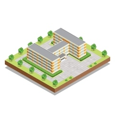 School or university or college building flat vector