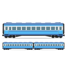 Railway carriage 10 vector
