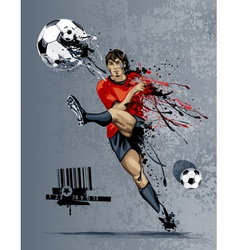 Abstract image of soccer player vector image