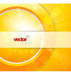 Abstract orange circle vector image vector image
