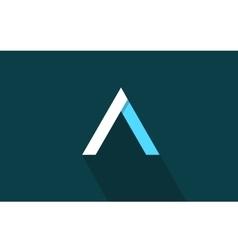 Alphabet letter A long shadow logo icon design vector image vector image