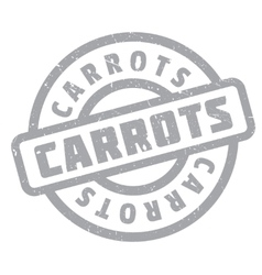 Carrots rubber stamp vector image vector image