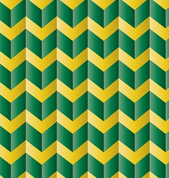 Chevron green and yellow pattern vector image vector image
