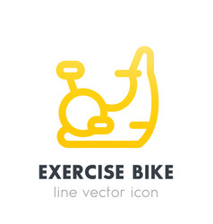 exercise bike icon in line style vector image vector image