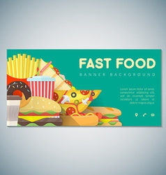 Fast food banner backdrop template vector