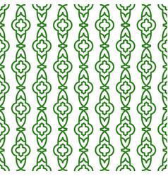 Green line geometric seamless pattern vector