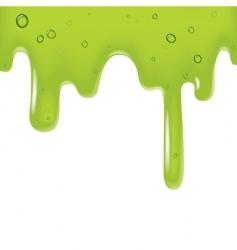 green viscous liquid vector image vector image