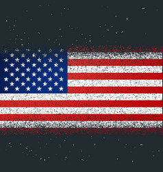 grunge textured flag of america vector image