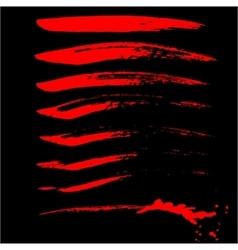Handdrawn ink brush strokes vector image
