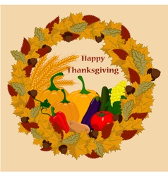 Happy-thanksgiving-day-with-vegetables vector