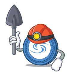 Miner syscoin mascot cartoon style vector