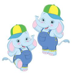 of cartoon elephants vector image
