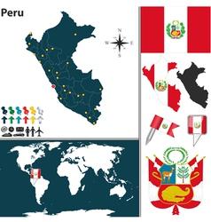 Peru map world vector