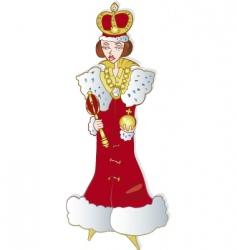 queen vector image vector image