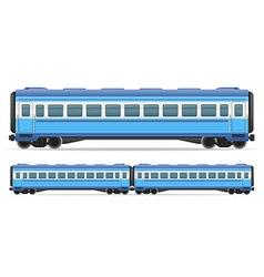 railway carriage 10 vector image vector image