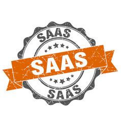 saas stamp sign seal vector image vector image