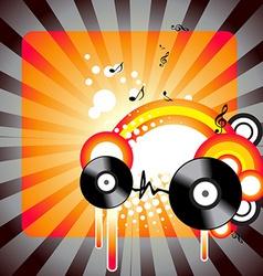 stylish music artwork vector image