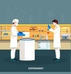 Two scientists people composition vector