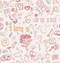 Vintage doodles for valentines day vector