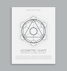 Spiritual sacred geometric shapes vector