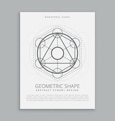 Spiritual sacred geometric shapes vector
