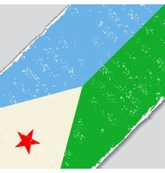 Djibouti grunge flag vector image