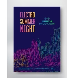 Night party electro sound vector