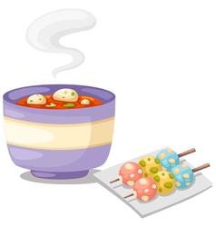 Spicy soup thai tomyum vector
