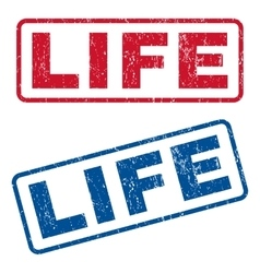 Life rubber stamps vector