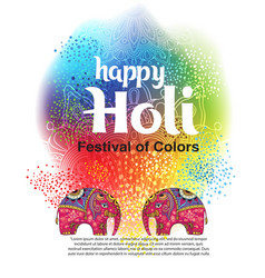 Design for indian festival of colours vector
