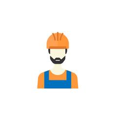 Builder flat icon build repair vector