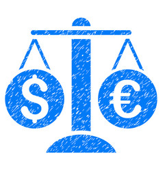 currency balance grunge icon vector image