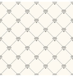 Seamless retro pattern with diamonds vector