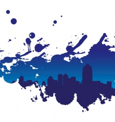 Cityscape splodge vector