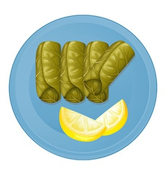 A plate with healthy foods vector