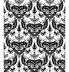 Damask monochrome pattern vector