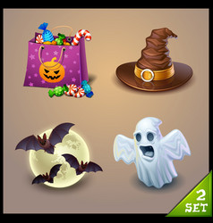 halloween icons-set 2 vector image