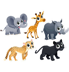 Funny african animals vector