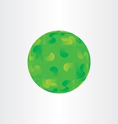 Green decorative globe circle background abstract vector