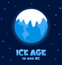Planet earth in the ice age vector