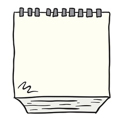 Freehand drawn cartoon note pad vector